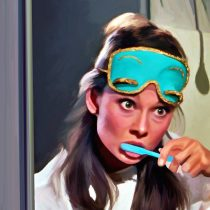 Detail Breakfast at Tiffany's #5 Large Size Painting